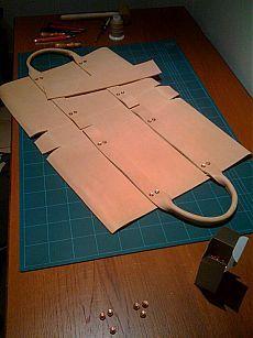 Deri çanta yapımı MXS | Deri Esintileri