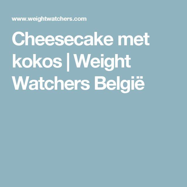 Cheesecake met kokos   Weight Watchers België
