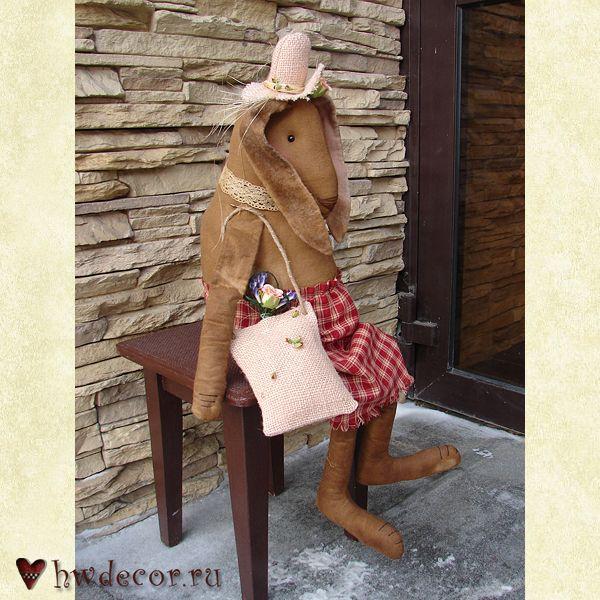 Примитивная кукла Весенняя зайка
