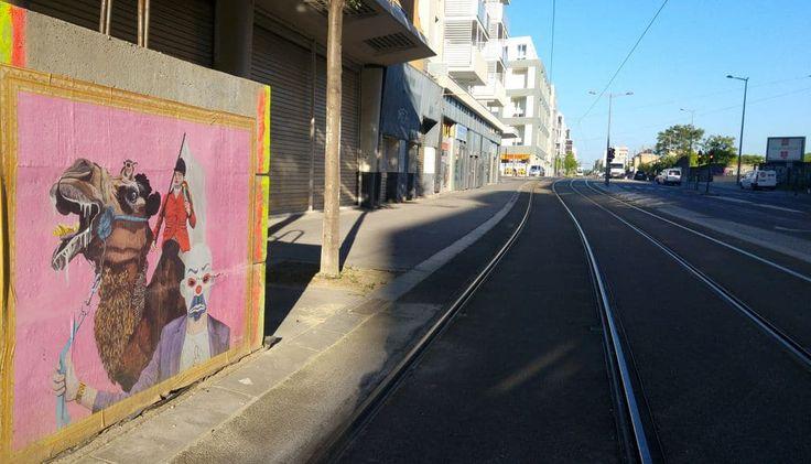 happycurio lyon 8 street art rauky travaux