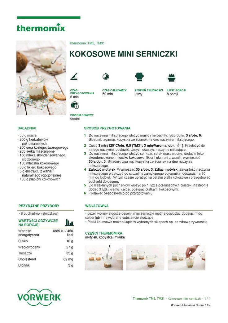 thermomix - Kokosowe mini serniczki