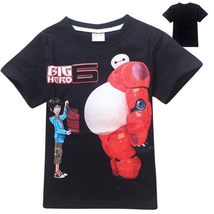 Big hero 6 T shirt Zwart