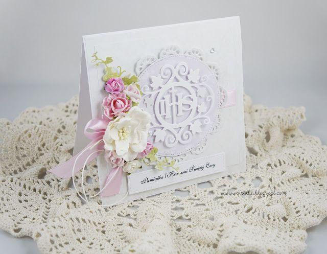 Blog Craft Passion: Kartki komunijne dla dziewczynki/Communion cards for a girl