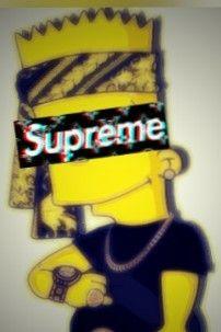 Iphone 6 Bart Simpson Supreme Wallpaper