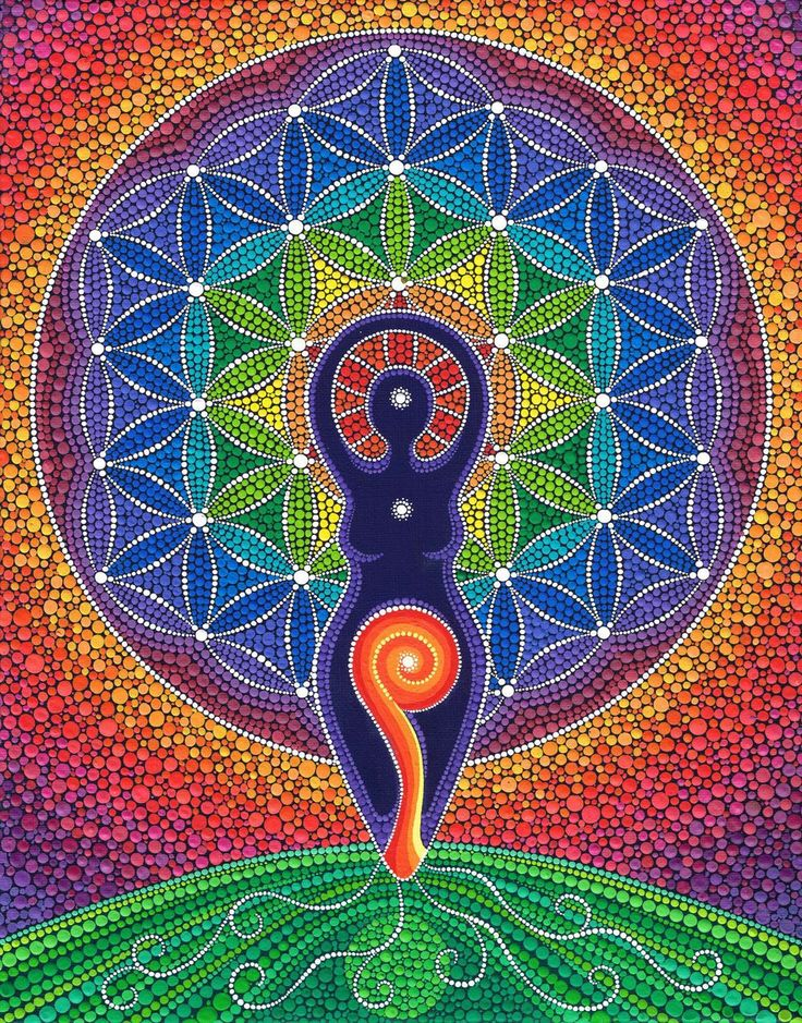 """""""Spirals are dynamic, ancient Goddess symbols that awaken growth and the life force. They express fluid transformations and regenerative cycles. In a spiral way, I yearn for integration of all aspects of my life."""" -Nane Jordan - Art:Elspeth Mclean / Sacred Geometry"""