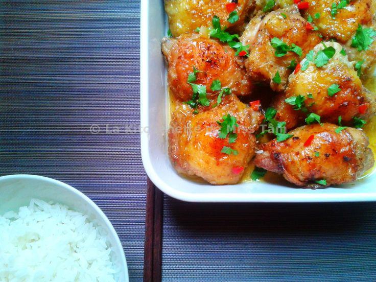 Poulet à la citronnelle. Une recette vietnamienne populaire.. La recette par La Kitchenette de Miss Tâm.
