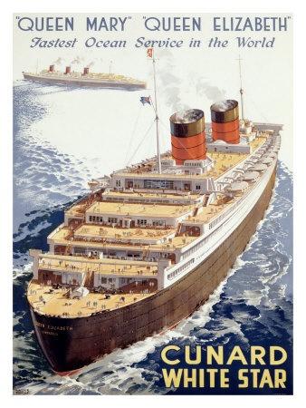 Image detail for -Cunard Line, Queen Elizab...