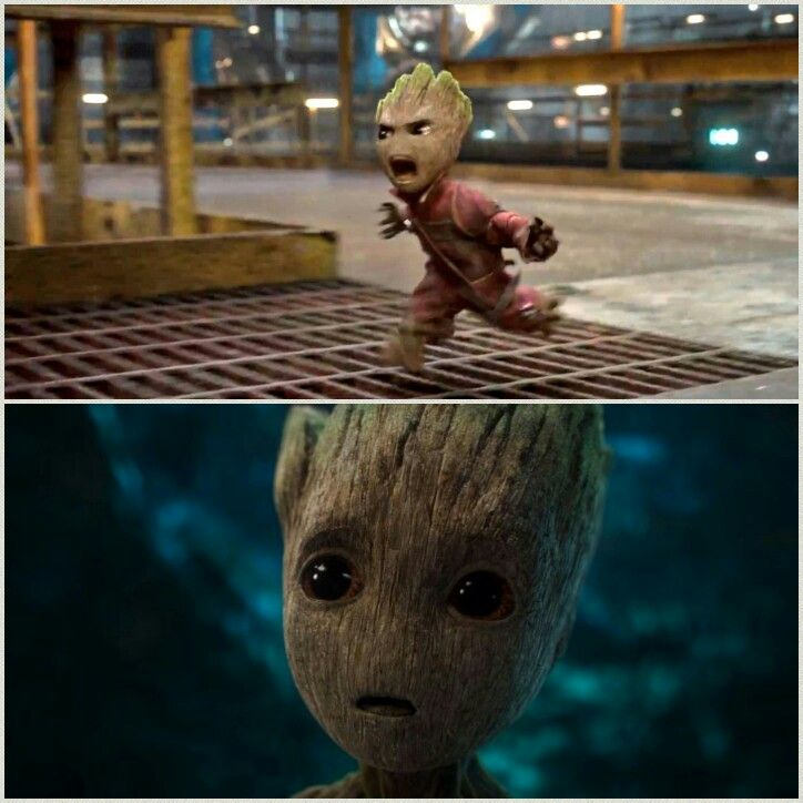 Don't push that button or we all die AHHHHHH I am mini groot! **pushes button**