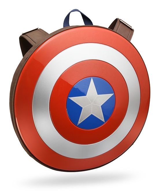A Captain America Shield Backpack for Assembling & Storing All Your Schoolwork