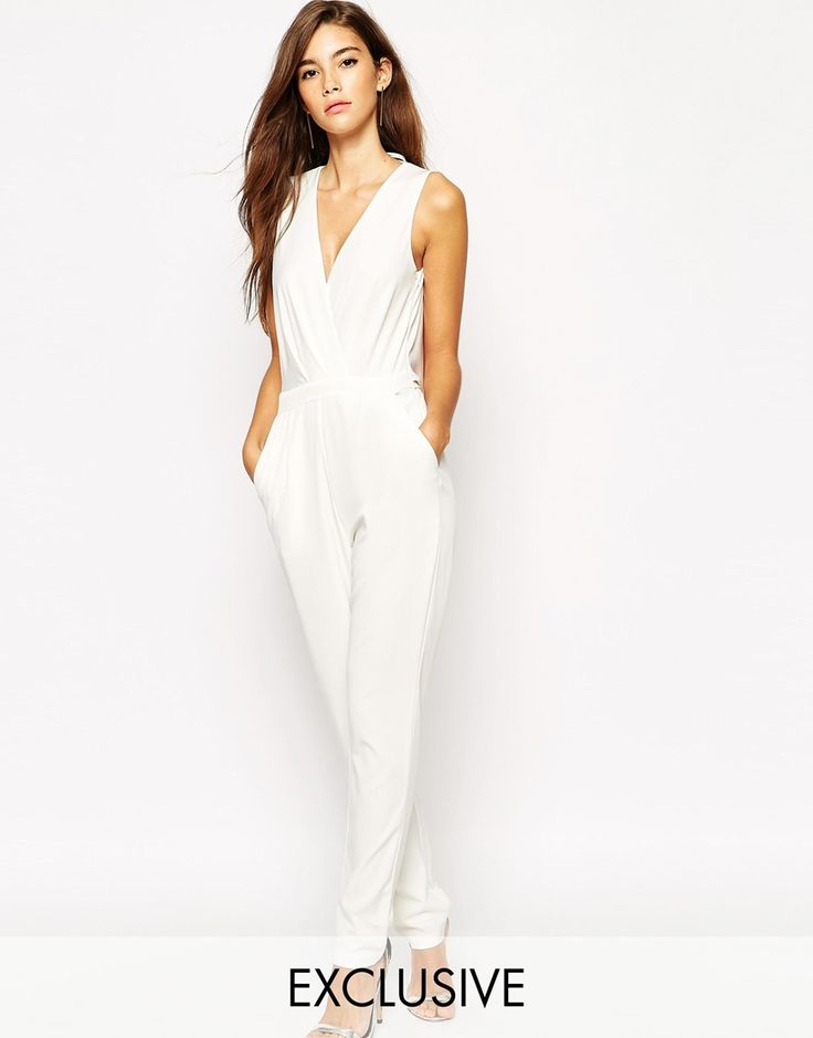 Shop NaaNaa Wrap Front Jumpsuit With Cowl Back At ASOS