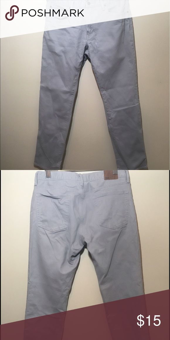 Gap men's grey denim Gap men's grey denim pants only worn twice. GAP Jeans Straight