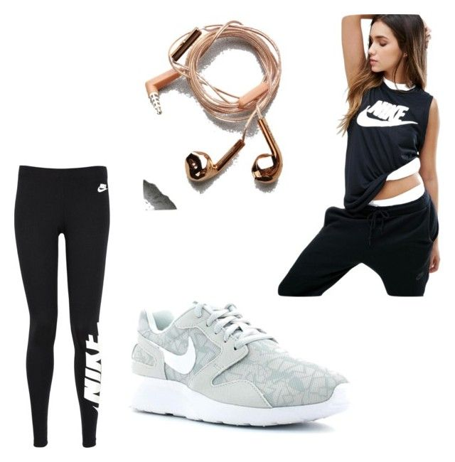 Workout Wear by londonkat on Polyvore featuring polyvore, fashion, style, NIKE, Happy Plugs and clothing