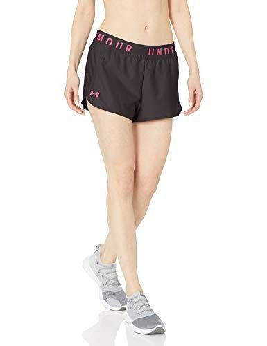 91f190fefc19 Under Armour Play Up Knockout Shorts, Jet Gray//Mojo Pink, X-Small | Top  100 Under Armour Products | Gym shorts womens, Under armour, Armour