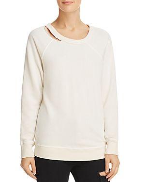 Cutout sweatshirt.