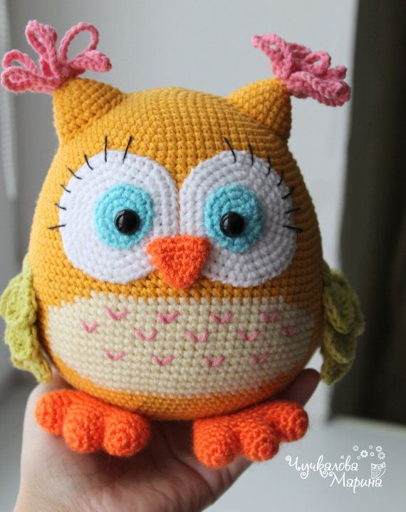 "Toy crochet pattern ""Colorful owl"" PDF"