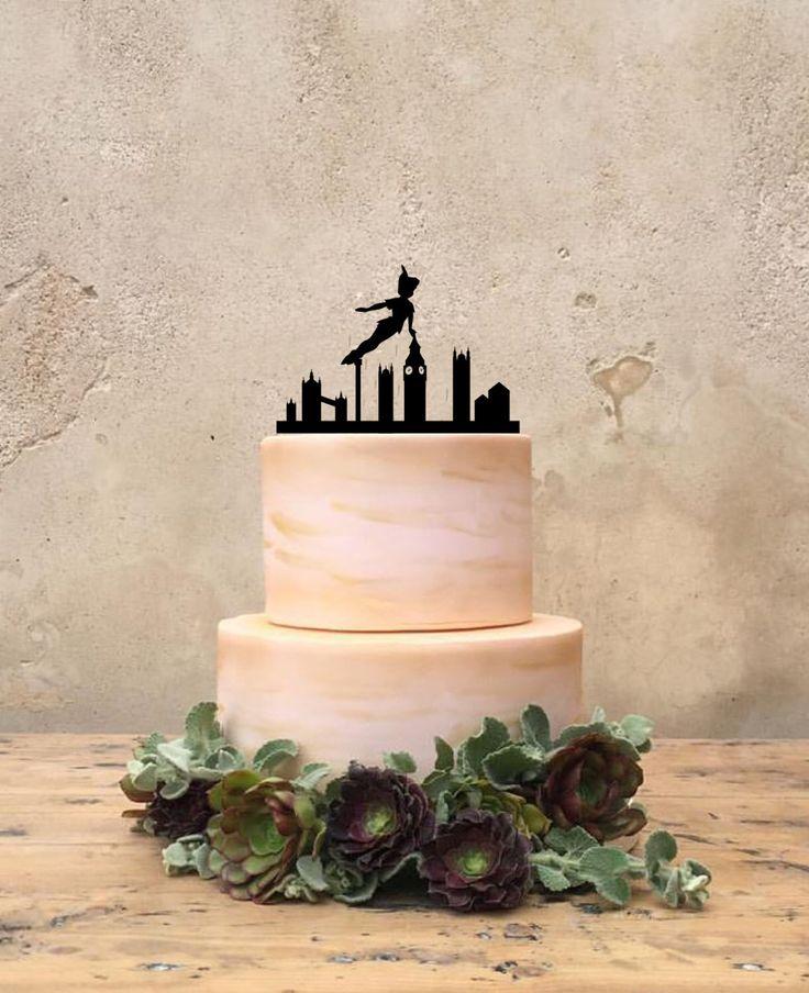 Peter Pan Birthday Cake Topper, Custom Peter Pan Cake Topper, Peter Pan Birthday Party Supplies, Birthday Party Decor, disney Party Decor by CustomMadeJust4You on Etsy https://www.etsy.com/listing/281433692/peter-pan-birthday-cake-topper-custom