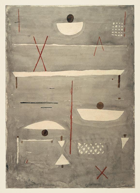 Paul Klee Zeichen auf dem Feld, 1935, 77. Aquarell auf Papier auf Karton, 48,7 x 34,2 cm: On The, Paulklee, Field Zeichen, Klee Paul, Artist, Paul Klee