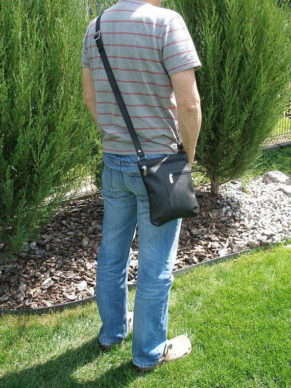 Zwarte lederen tas-iPad mini tas-crossbody iPad mini tas-8