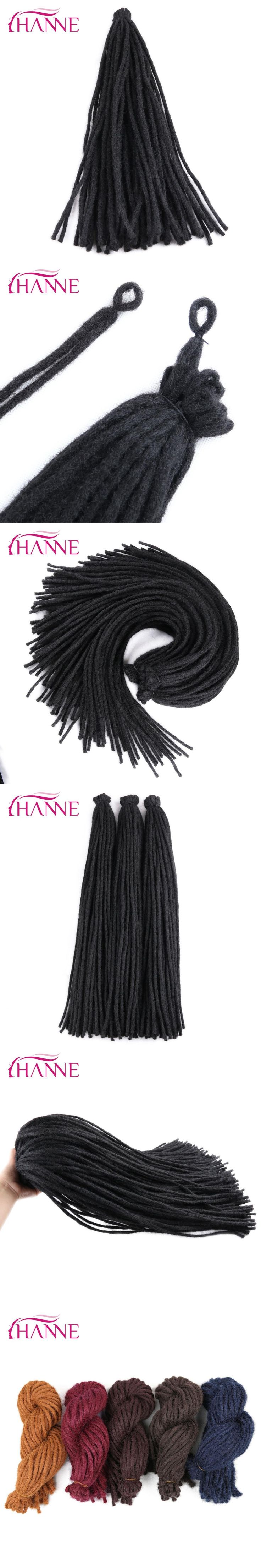 "HANNE 22"" Crochet Braids 5 colors available Dreadlocks High Temperature Synthetic Hair Extensions For Men Or Black Women 1pack"