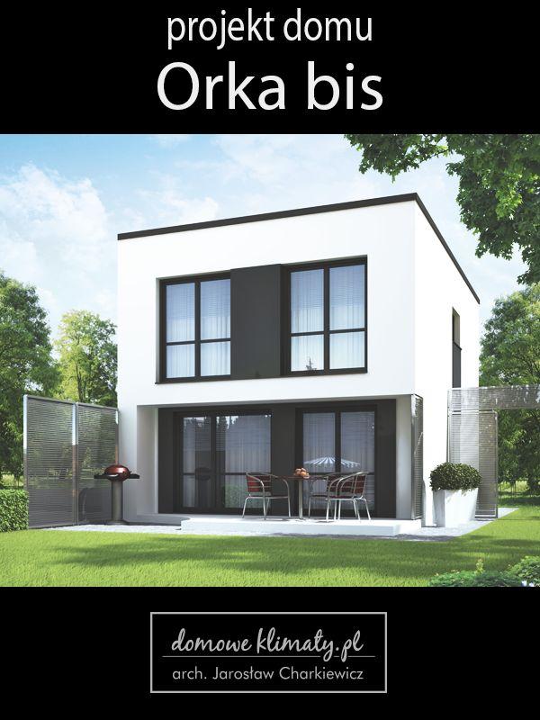 Projekt małego piętrowego domu. Jego atutem jest optymalne wykorzystanie przestrzeni, prosta bryła i dach, a co za tym idzie stosunkowo niskie koszty budowy. Dom zaprojektowany z myślą o rodzinie ceniącej sobie proste, niedrogie ale nowoczesne i funkcjonalne rozwiązania. Ten nieduży dom z zewnątrz prezentuje się atrakcyjnie dzięki prostym bryłom i wykorzystaniu tradycyjnych i nowoczesnych materiałów. Wnętrze domu to esencja prostoty i wygody.