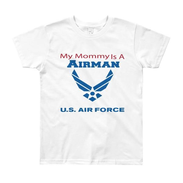 My Mommy is an Airman - Youth Short Sleeve T-Shirt
