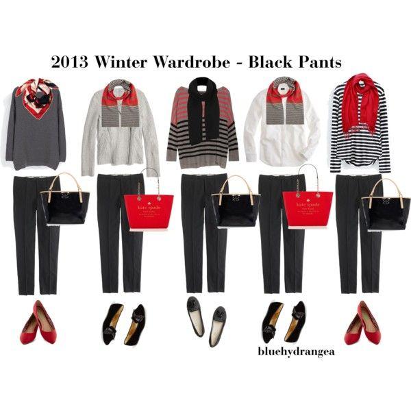 """Winter Wardrobe - Black Pants"" by bluehydrangea on Polyvore"