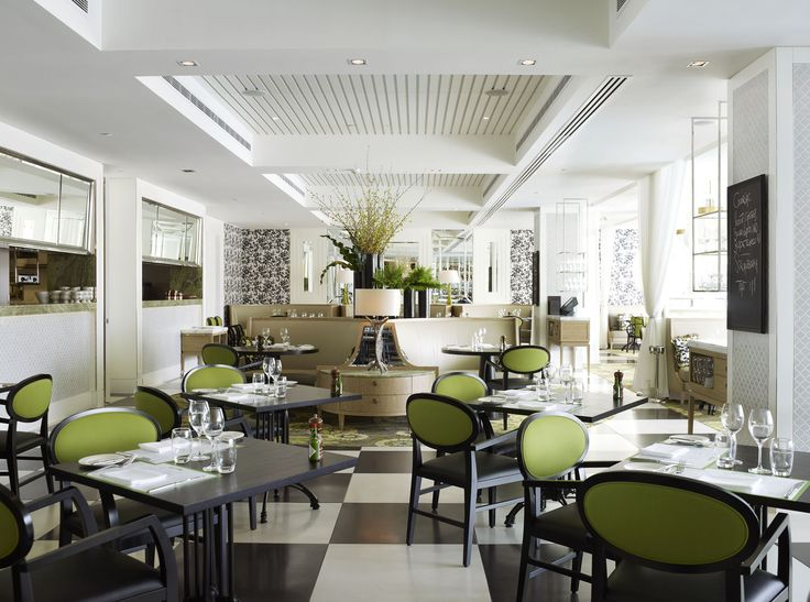The familiar green signature accent colour, also used in the Melbourne design, has been strategically used throughout contrasting against the French provincial décor elements. This allows for a departure from a formal restaurant to a more casual dining experience which completely fits into the context of the Burswood resort.    www.reddesigngroup.com.au  #reddesigngroup