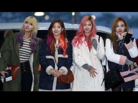 TWICE Tampil dengan Gaya Rambut baru Full Colour di Bandara  Incheon