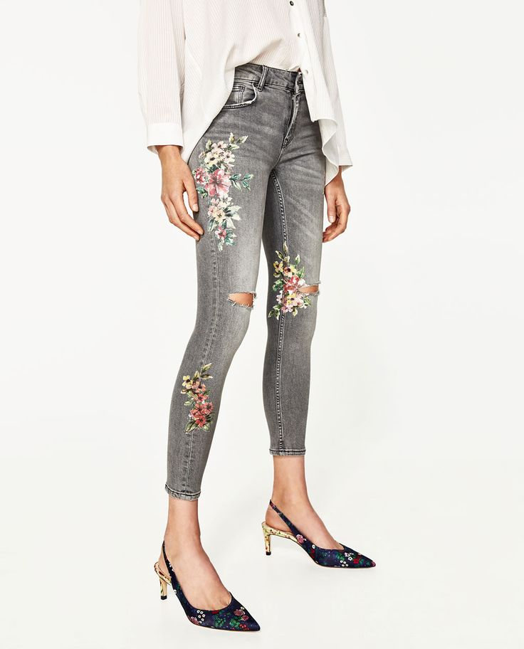 FLORAL PRINT JEANS-View All-JEANS-WOMAN   ZARA United States