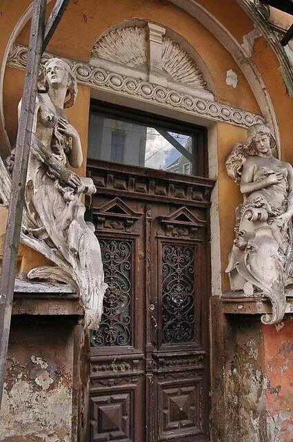 Art nouveau door, France