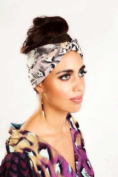 Featherly Head Wrap & Kimono Top