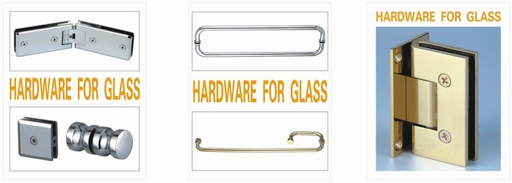 This site has door hinges, glass handles, frameless shower door hardware, commercial glass and bathroom shower enclosure door that are perfect for my new bathroom!