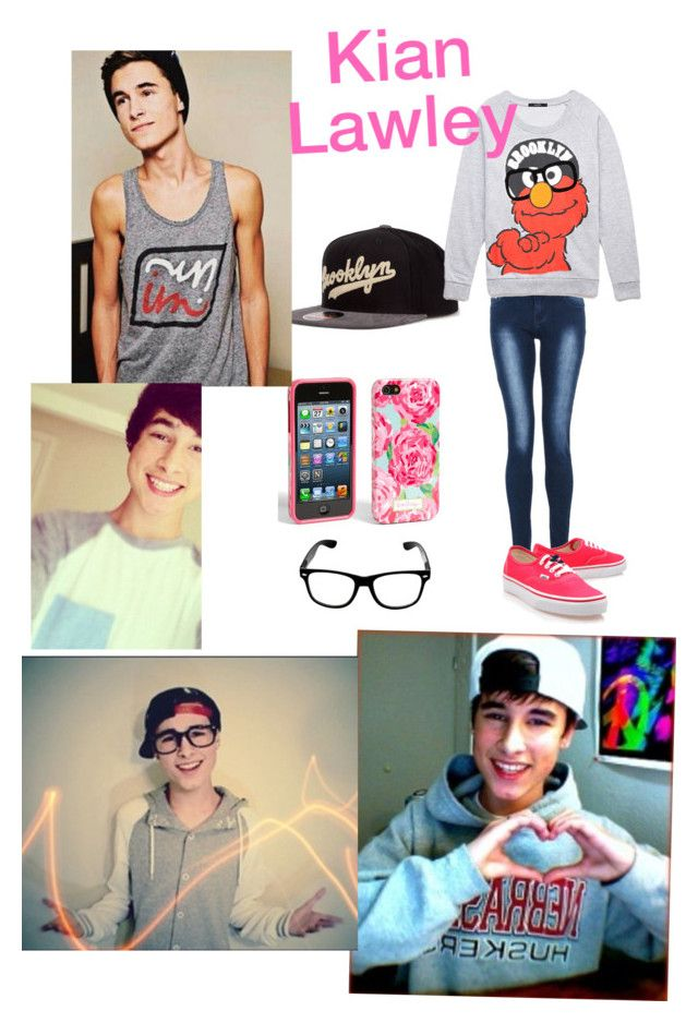 """""""Going to the zoo with Kian"""" by averageclouds on Polyvore featuring American Needle, Quiz, Forever 21, Vans, Lilly Pulitzer, kian and Lawley"""
