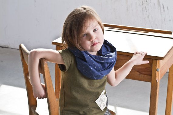 Organic cotton infinity scarf for kids