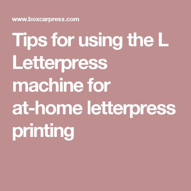 l letterpress machine
