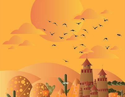 "Check out new work on my @Behance portfolio: ""Desert Castle on Ester""…"