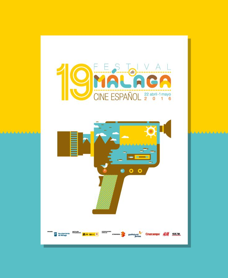 Festival Malaga 2016. Cartel. Póster. Diseño gráfico. Cine.