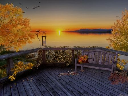 *Autumn sunset*