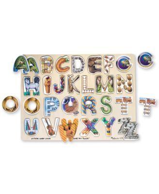Melissa and Doug Kids Toy, Alphabet Art Puzzle