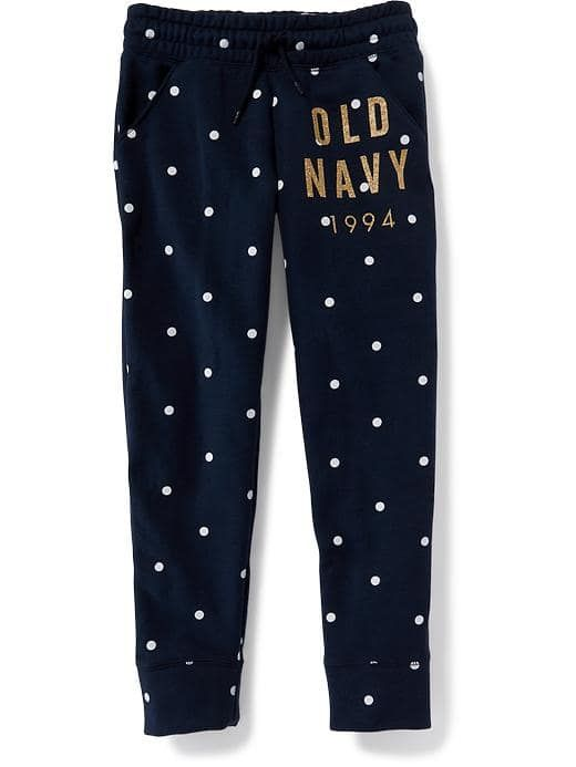 Logo-Graphic Fleece Joggers for Girls