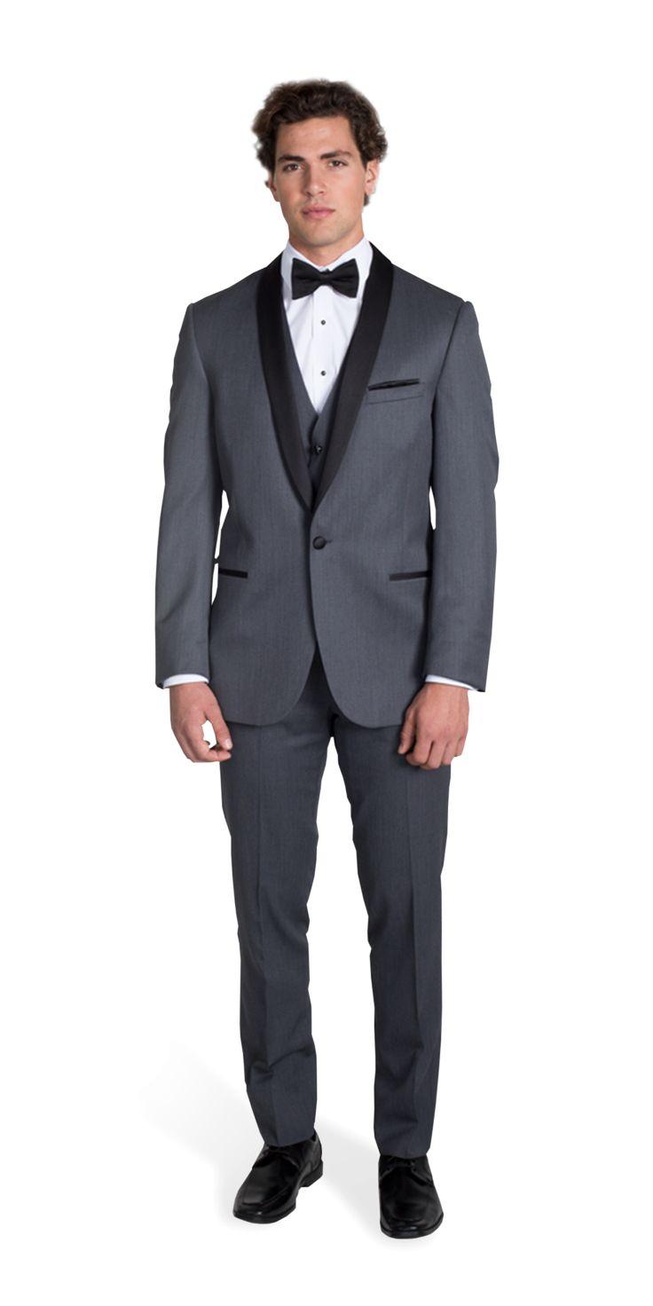 Charcoal Gray Michael Kors Shawl Lapel Tuxedo
