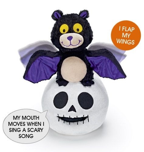 i so love guyssimon and skully halloween duo avon halloween exclusive plays the tune halloween bounce as the bat flaps his wings and the skeletons