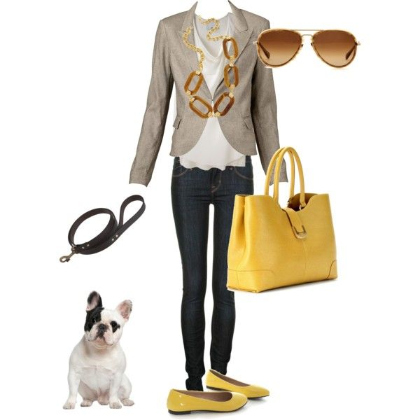 Casual office wear ... and I'll take the dog too!