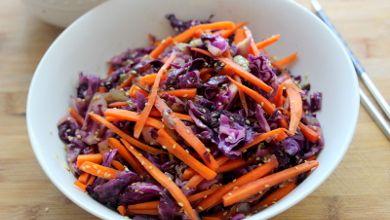 Esta receita de couve roxa com cenoura salteada é um acompanhamento nutritivo e saudável #Couve_Roxa_com_Cenoura_Salteada #receitas #acompanhamentos #couve #cenoura
