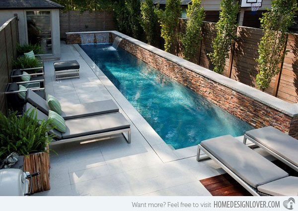 This small lap pool is enough for swimming enthusiasts who wish to practice their swimming activities at home.                                                                                                                                                                                 More