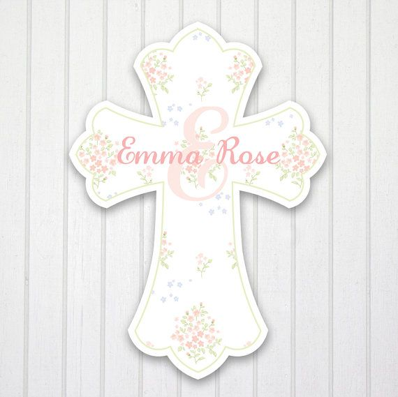 Country Chic 2 Personalized Wall Cross Girl S Room Nursery