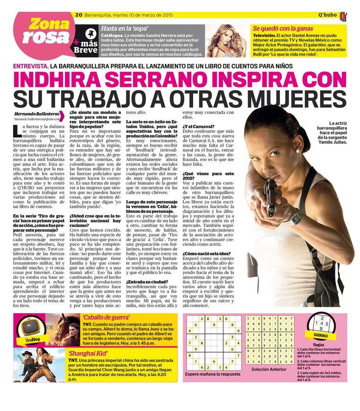 Indhira Serrano inspira con su trabajo a otras mujeres. Textos: Hernando Ballesteros. Empresa: Q'hubo Barranquilla.