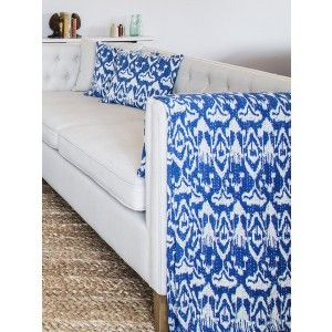 Ocean Blue Hand-Stitched Bed Cover - King Size