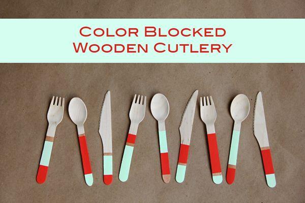 DIY Color Blocked Cutlery