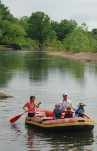 Illinois River Float Trips and Camping:  The Illinois River in Tahlequah offers a gentle, moderate current and plenty of canoe, kayak and raft outfitters along its scenic banks, making it a favorite float trip destination